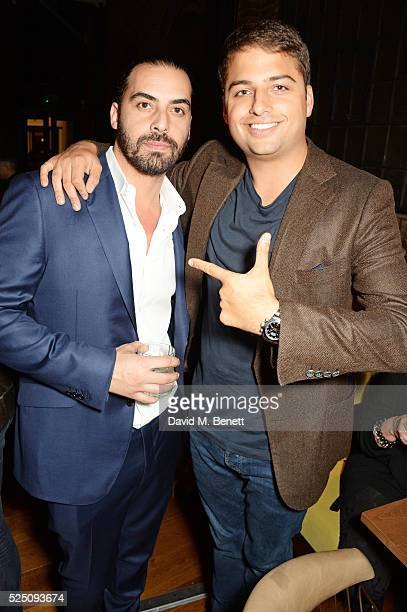 Ryan Bish and Jamie Reuben attend the launch of Restaurant Ours in Kensington on April 27 2016 in London England
