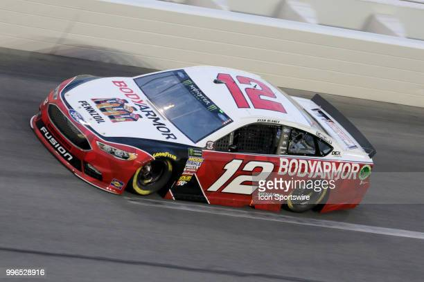 Ryan Blaney driver of the Body Armor Ford during the Coke Zero 400 Monster Energy Cup Series race on July 7 at Daytona International Speedway in...