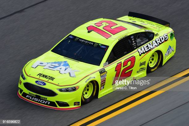 Ryan Blaney driver of the Menards/Peak Ford practices for the Monster Energy NASCAR Cup Series Advance Auto Parts Clash at Daytona International...
