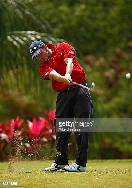 Ryan Blaum hits his tee shot on the 11th hole during the third round of the Puerto Rico Open presented by Banco Popular held on March 22 2008 at Coco...
