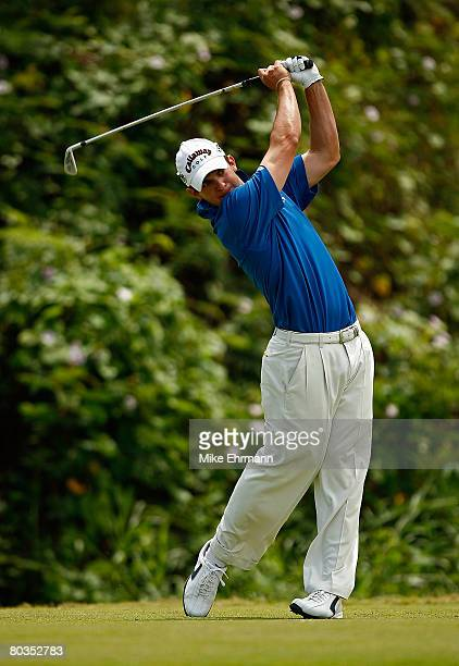 Ryan Blaum hits his tee shot on the 7th hole during the final round of the Puerto Rico Open presented by Banco Popular held on March 23 2008 at Coco...