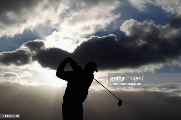 Ryan Blaum of USA tees of the 1st hole during day two of the Madeira Islands Open on May 20 2011 in Porto Santo Island Portugal
