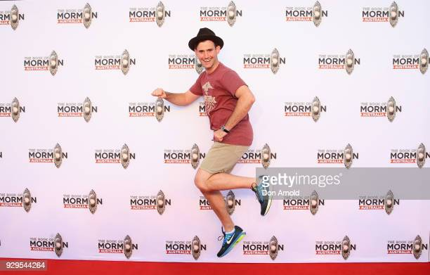 Ryan Bondy arrives ahead of The Book of Mormon opening night at the Lyric Theatre Star City on March 9 2018 in Sydney Australia