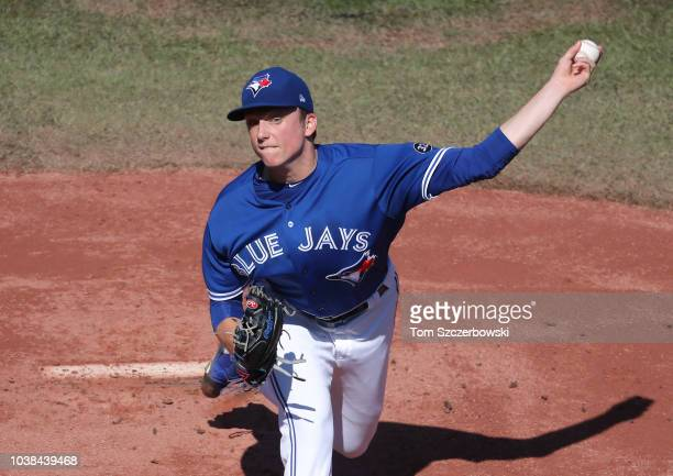 Blake Snell of the Tampa Bay Rays delivers a pitch in the first inning during MLB game action against the Toronto Blue Jays at Rogers Centre on...