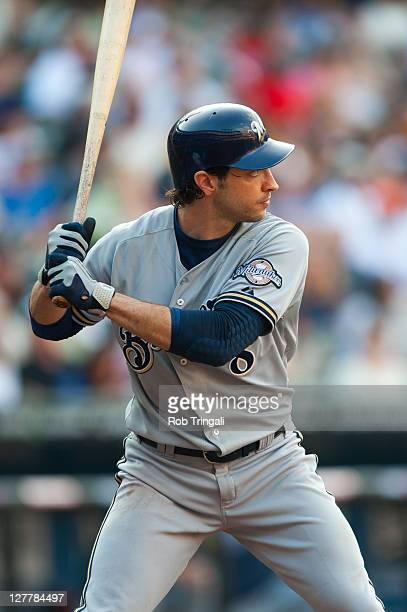 Ryan Braun of the Milwaukee Brewers bats during the game against the New York Mets at Citi Field on August 20 2011 in the Flushing neighborhood of...
