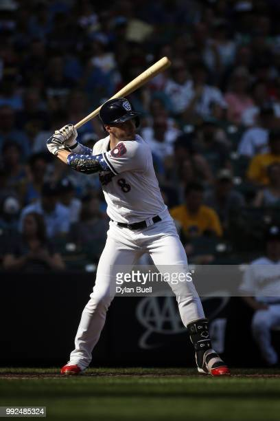 Ryan Braun of the Milwaukee Brewers bats in the fifth inning against the Minnesota Twins at Miller Park on July 3 2018 in Milwaukee Wisconsin