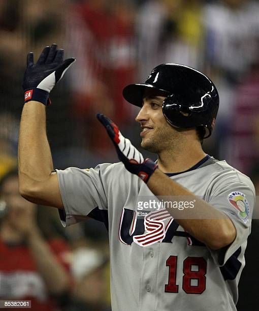 Ryan Braun of the USA is congratulated after he scored a run during the 2009 World Baseball Classic Pool C match on March 8 2009 at the Rogers Centre...