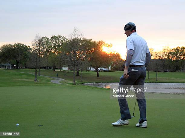 Ryan Brehm misses his par putt on the 18th green during the third round of the Chitimacha Louisiana Open presented by NACHER held at Le Triomphe Golf...