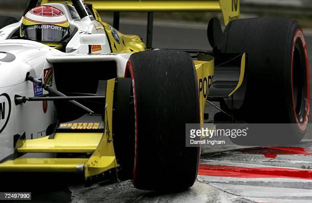 Ryan Briscoe drives the RuSPORT Lola Cosworth during practice for the Champ Car World Series Gran Premio Telmex at the Autodromo Hermanos Rodriguez...