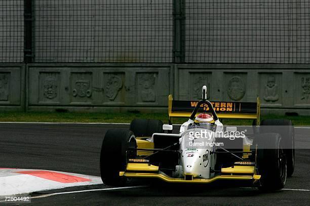 Ryan Briscoe drives the RuSPORT Lola Cosworth during practice for the ChampCar World Series Gran Premio Telmex on November 10 2006 at the Autodromo...