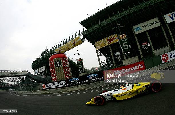 Ryan Briscoe drives the RuSPORT Lola Cosworth during the ChampCar World Series Gran Premio Telmex on November 12 2006 at the Autodromo Hermanos...