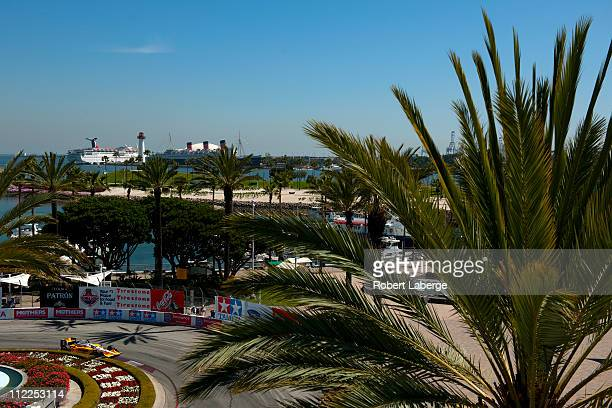 Ryan Briscoe of Australia, driver of the Team Penske Dallara Honda, practices for the IndyCar Series Toyota Grand Prix of Long Beach on April 15,...