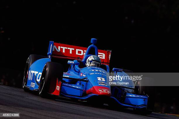 Ryan Briscoe of Australia drives the NTT Data Chip Ganassi Racing Dallara Chevrolet during practice for the Verizon IndyCar Series Honda Indy 200 at...