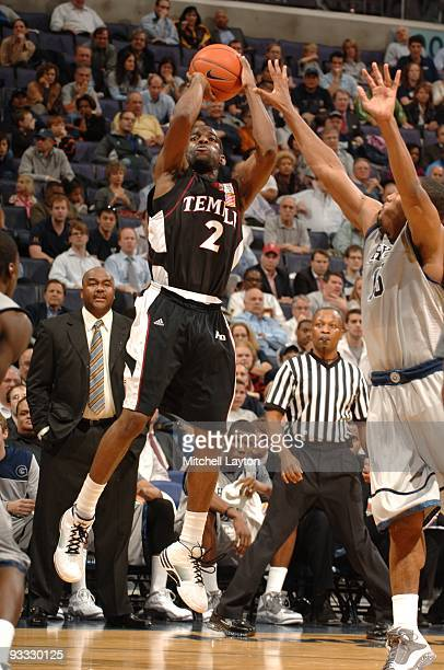 Ryan Brooks of the Temple Owls takes a jump shot during a college basketball game against the Georgetown Hoyas on November 17 2009 at Verizon Center...