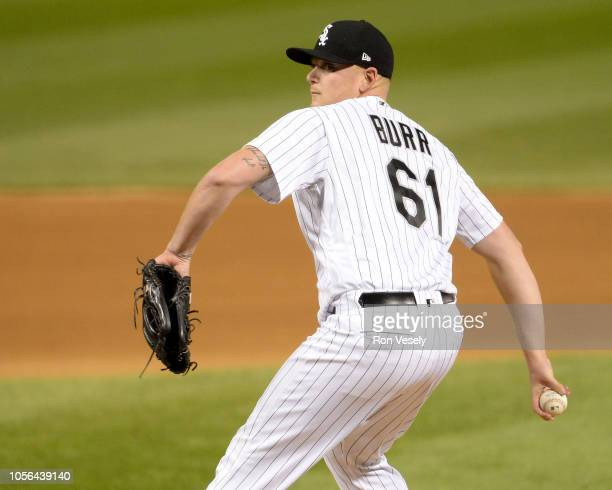 Ryan Burr of the Chicago White Sox pitches against the Cleveland Indians on September 26 2018 at Guaranteed Rate Field in Chicago Illinois
