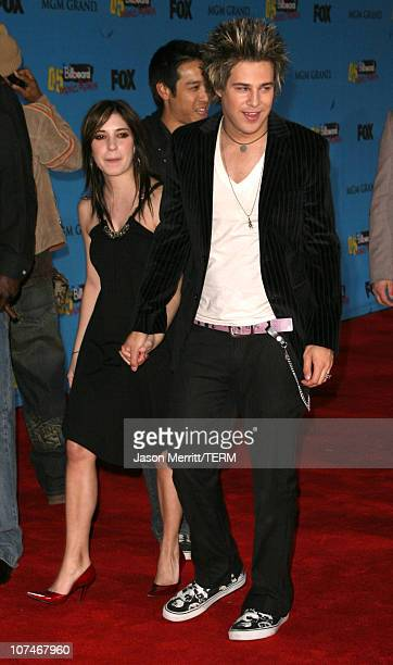 Ryan Cabrera and Jess Origliasso during 2005 Billboard Music Awards Arrivals at MGM Grand in Las Vegas Nevada United States