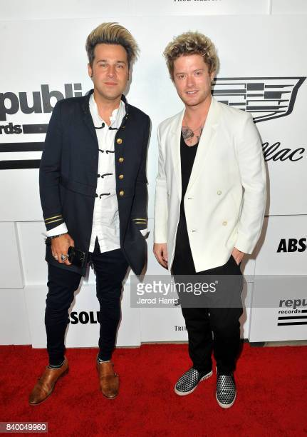 Ryan Cabrera and Nash Overstreet attend the VMA after party hosted by Republic Records and Cadillac at TAO restaurant at the Dream Hotel on August 27...