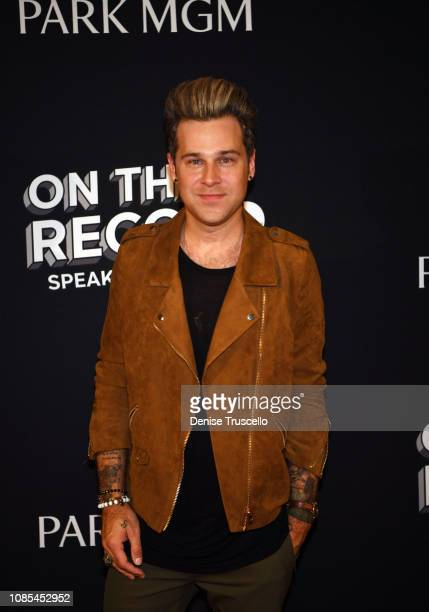Ryan Cabrera arrives at the grand opening celebration of On The Record Speakeasy and Club at Park MGM on January 19 2019 in Las Vegas Nevada
