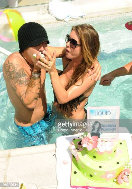 Ryan Cabrera celebrates Audrina Patridge's birthday at Liquid Pool at Aria in CityCenter on May 8 2010 in Las Vegas Nevada