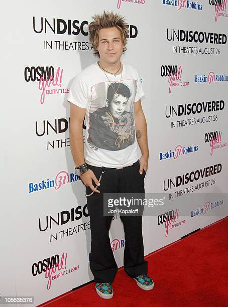 Ryan Cabrera during Undiscovered Los Angeles Premiere Arrivals at Egyptian Theater in Hollywood California United States
