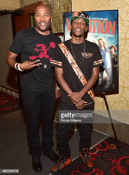 Ryan Cameron and Jadarius Jenkins attend Vacation Vip Reception/Movie Screening Hosted By Bossip And Ryan Cameron at Regal Atlantic Station on July...