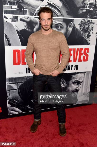 Ryan Carnes attends the premiere of STX Films' 'Den of Thieves' at Regal LA Live Stadium 14 on January 17 2018 in Los Angeles California