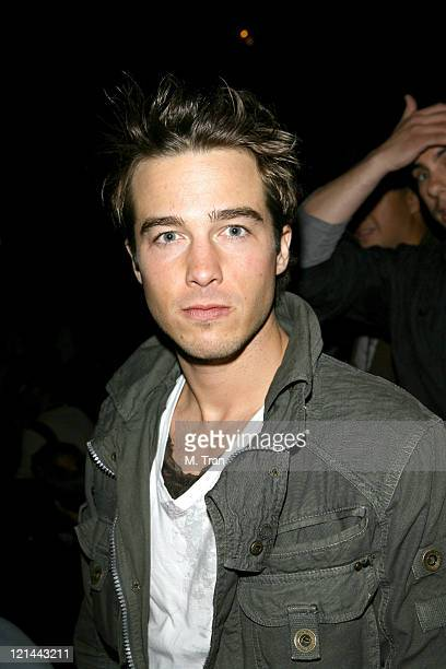 Ryan Carnes during MercedesBenz Fall 2007 LA Fashion Week at Smashbox Studios Monarchy Collection Backstage and Front Row at Smashbox Studios in...