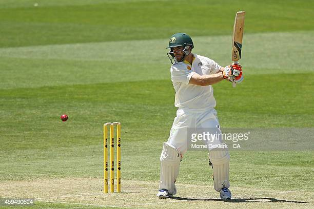 Ryan Carters of Australia bats during the tour match between CA XI and India at Gliderol Stadium on November 24 2014 in Adelaide Australia