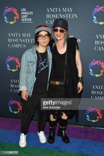 Ryan Cassata and Jenny McKenna attend the grand opening of the Los Angeles LGBT Center's Anita May Rosenstein Campus on April 07 2019 in Los Angeles...