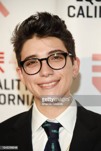Ryan Cassata arrives at the LA Equality Awards Hosted By Equality California at the JW Marriot at LA Live on September 29 2018 in Los Angeles...