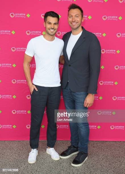 Ryan Channing and Ian Thorpe arrive ahead of Priceline Pharmacy's 'The Beauty Prescription' live event at Royal Randwick Racecourse on February 22...