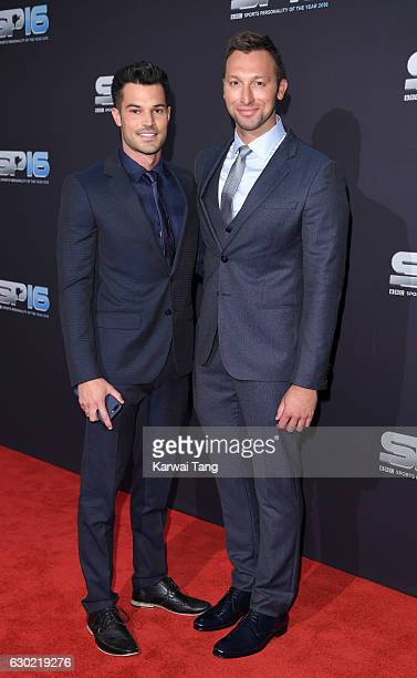 Ryan Channing and Ian Thorpe attend the BBC Sports Personality Of The Year at Resorts World on December 18 2016 in Birmingham United Kingdom