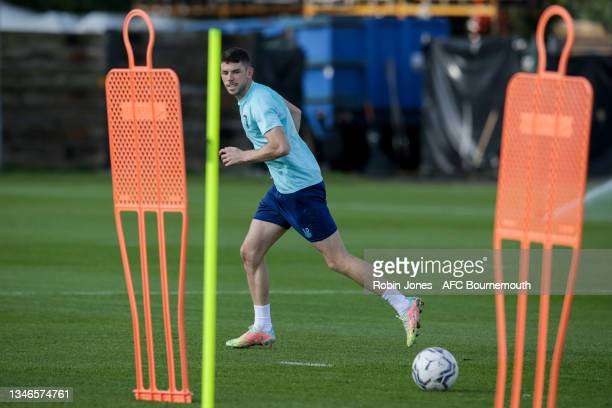 Ryan Christie of Bournemouth during a training session at the Vitality Stadium on October 14, 2021 in Bournemouth, England.