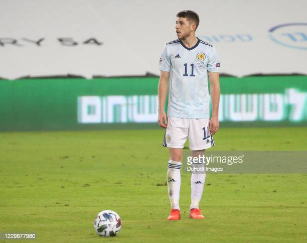 Ryan Christie of Scotland looks on during the UEFA Nations League group stage match between Israel and Scotland at Netanya Stadium on November 18,...