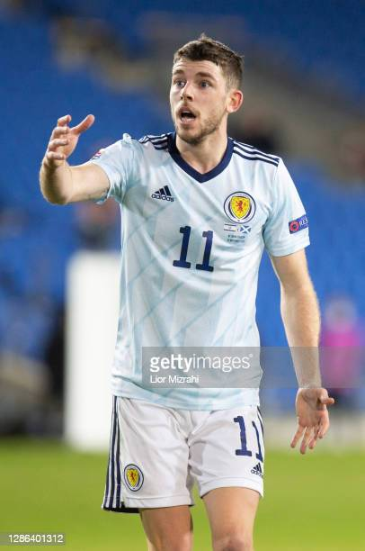 Ryan Christie of Scotland reacts during the UEFA Nations League group stage match between Israel and Scotland at Netanya Stadium on November 18, 2020...