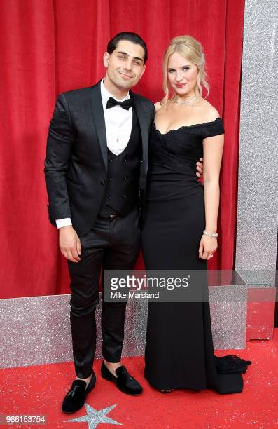 Ryan Clayton and guest attend the British Soap Awards 2018 at Hackney Empire on June 2 2018 in London England