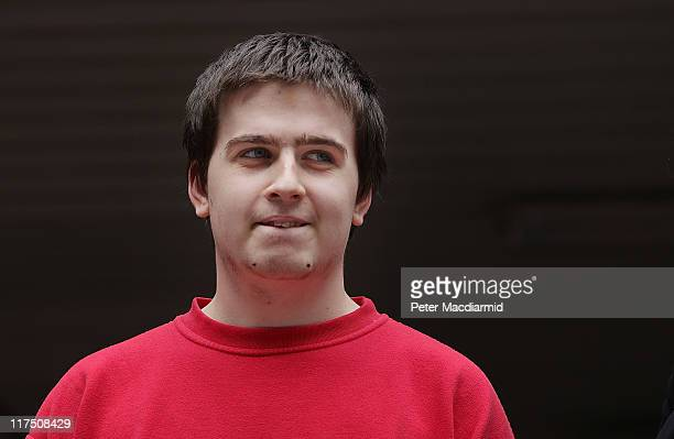 Ryan Cleary stands outside Southwark Crown Court on June 27 2011 in London England Mr Cleary is charged with hacking into the website of the United...