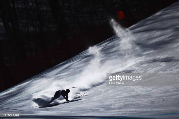 Ryan CochranSiegle of the United States crashes during his run during the Men's Alpine Combined Downhill on day four of the PyeongChang 2018 Winter...