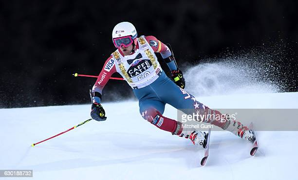Ryan CochranSiegle of The USA races down the course during the Audi FIS Alpine Ski World Cup Men's Giant Slalom race on December 18 2016 at Alta...