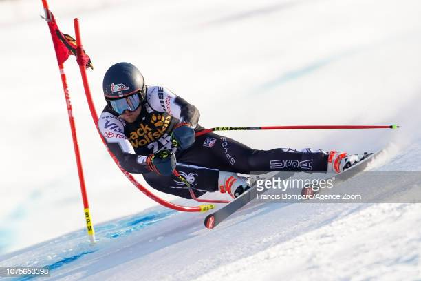 Ryan Cochransiegle of USA competes during the Audi FIS Alpine Ski World Cup Men's Super G on December 29 2018 in Bormio Italy
