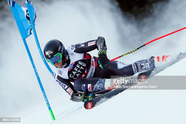 Ryan Cochransiegle of USA competes during the Audi FIS Alpine Ski World Cup Men's Giant Slalom on December 17 2017 in Alta Badia Italy