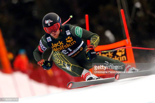 Ryan Cochran-siegle of USA in action during the Audi FIS Alpine Ski World Cup Men's Downhill on December 27, 2019 in Bormio Italy.