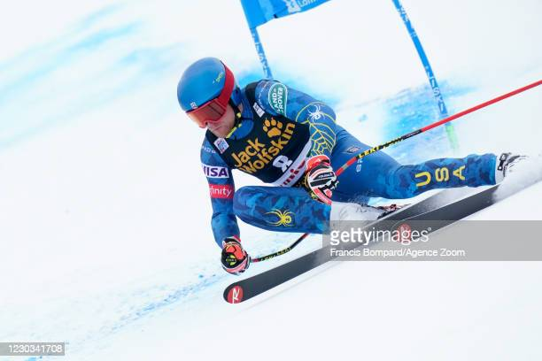 Ryan Cochran-siegle of USA in action during the Audi FIS Alpine Ski World Cup Men's Super Giant Slalom on December 29, 2020 in Bormio Italy.