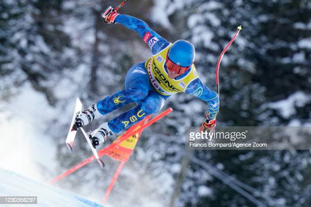 Ryan Cochran-siegle of USA in action during the Audi FIS Alpine Ski World Cup Men's Downhill on December 30, 2020 in Bormio Italy.