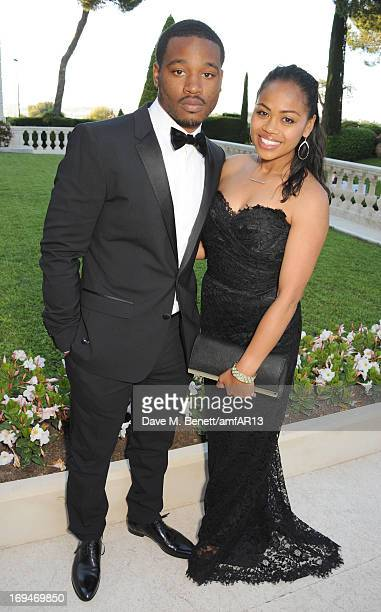 Ryan Coogler and fiance Zinzi Evans attends amfAR's 20th Annual Cinema Against AIDS during The 66th Annual Cannes Film Festival at Hotel du...