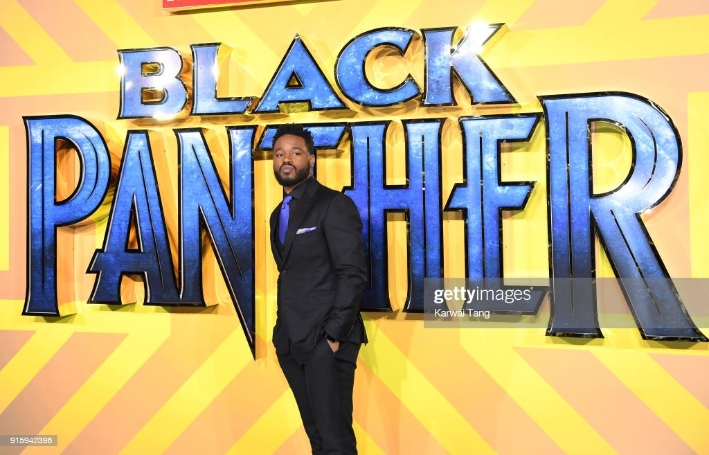Ryan Coogler attends the European Premiere of 'Black Panther' at Eventim Apollo on February 8, 2018 in London, England.