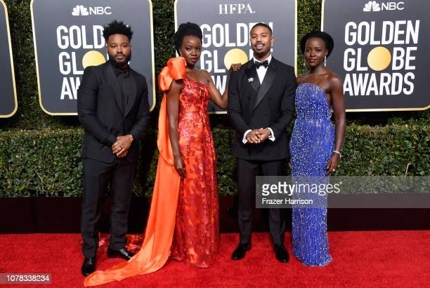 Ryan Coogler Danai Gurira Michael B Jordan and Lupita Nyong'o attend the 76th Annual Golden Globe Awards at The Beverly Hilton Hotel on January 6...
