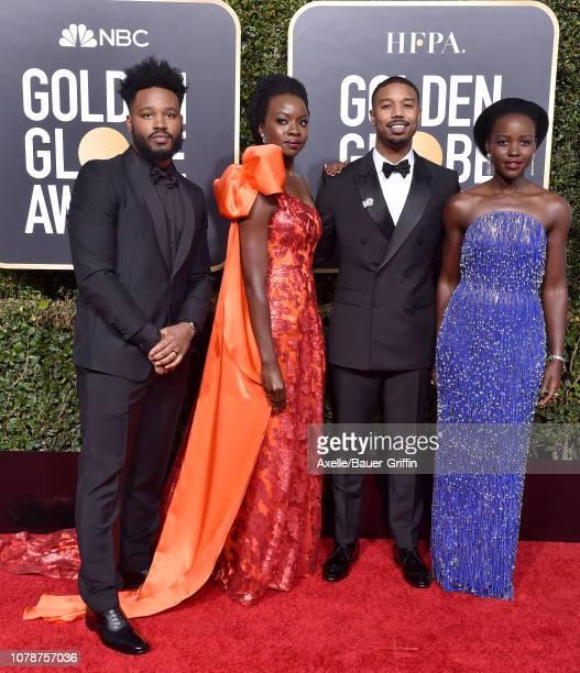 Ryan Coogler Danai Gurira Michael B Jordan and Lupita Nyong'o attend the 76th Annual Golden Globe Awards at The Beverly Hilton Hotel on January 6...