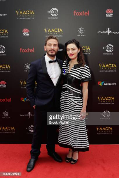 Ryan Corr and Phoebe Tonkin attend the 2018 AACTA Awards Presented by Foxtel at The Star on December 5 2018 in Sydney Australia
