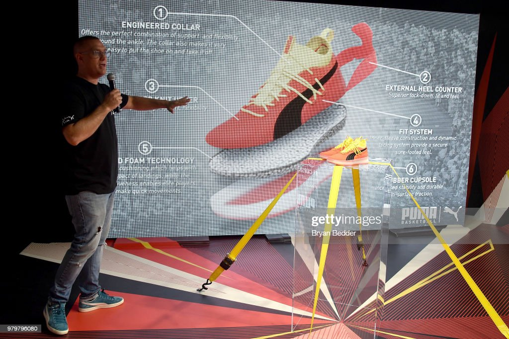 91725164546 Ryan Cross attends the first look of PUMA basketball shoe, Clyde ...